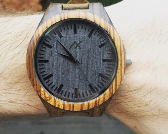 FREE ENGRAVING, Mens Wood Watch, Wooden Watch for Him, Gift for Him, Mens Wooden Watch, Engraved Wood Watch, Wedding Gift, Wooden Watch