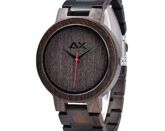 FREE Engraving, Mens Wood Watch, Wooden Watch, Wooden Watch for Men, Gift for Him, Wood Watch, Engraved Wood Watch, Wedding Gift, Mens Watch