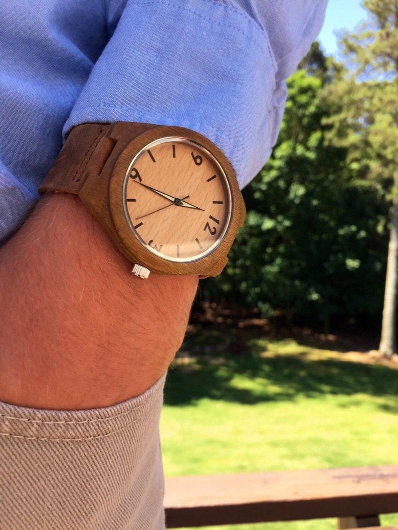 395609f5d597 Reloj madera reloj de madera minimalista para hombres