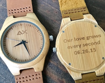 FREE ENGRAVING, Wood Watch, Engraved Wooden Watch, Mens Watch, Gift for Him, Groomsmen Gift, Wood Watch for men, Wooden Watch, Wrist Watch