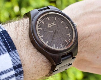 FREE ENGRAVING, Mens Wood Watch, Wooden Watch for Him, Gift for Him, Mens Wood Watch, Wooden Watch, Wedding Gift, Mens Watch, Engraved Watch