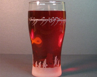 Etched glass, Drinking glass, personalized glass, glassware, barware