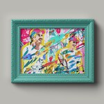 Jamie & Andy Murray   Sport Art   Fan Art   Wimbledon   Legends   Gift   Tennis   Olympics   Made in Scotland   Bright and Colourful Print