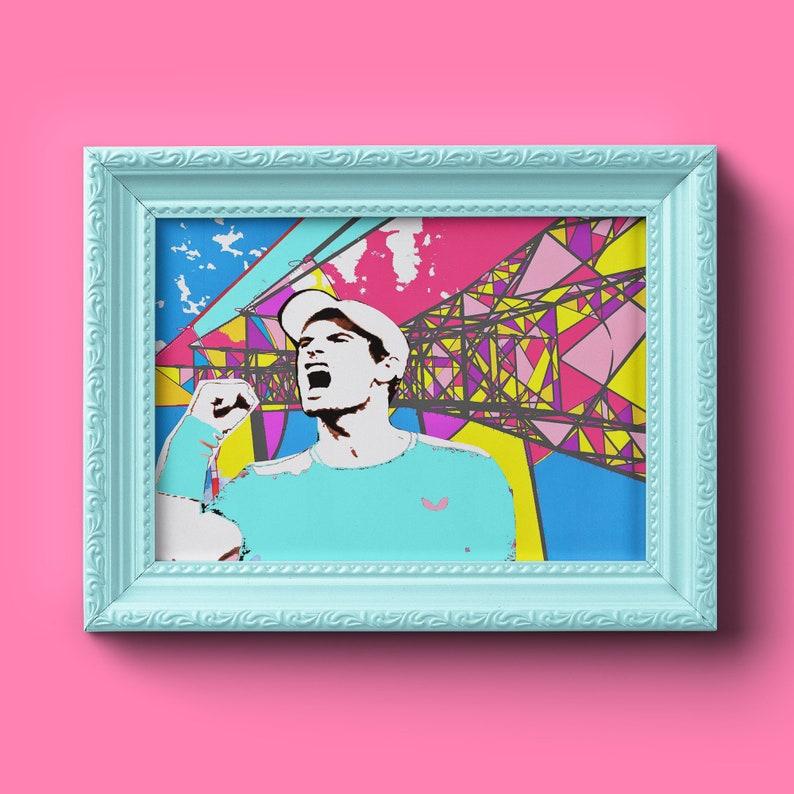 Great Scots  Andy Murray & Pylon  Sport Art  Fan Art  image 0