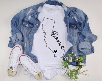 California T Shirt Etsy
