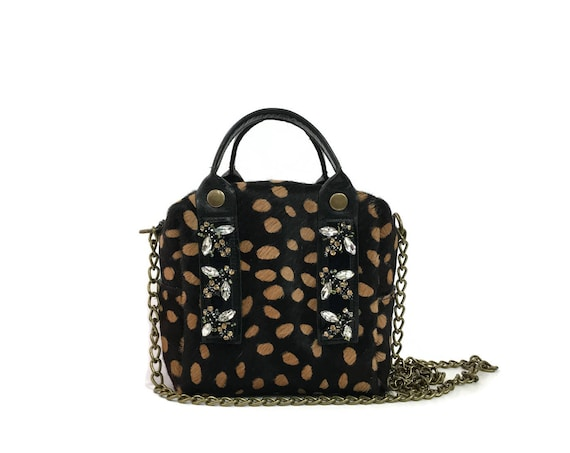 Box Bag in Spotted Animal Print