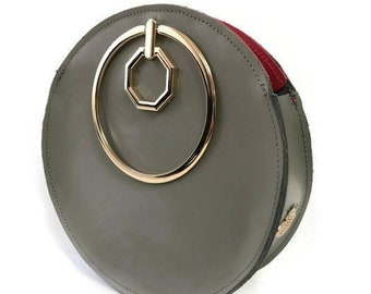 Aureole Wristlet Circle Bag in Olive Green / More Colors