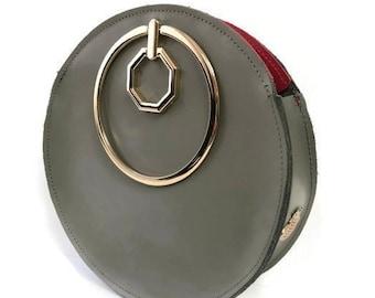 Aureole Wristlet Circle Bag in Olive Green / More Colors