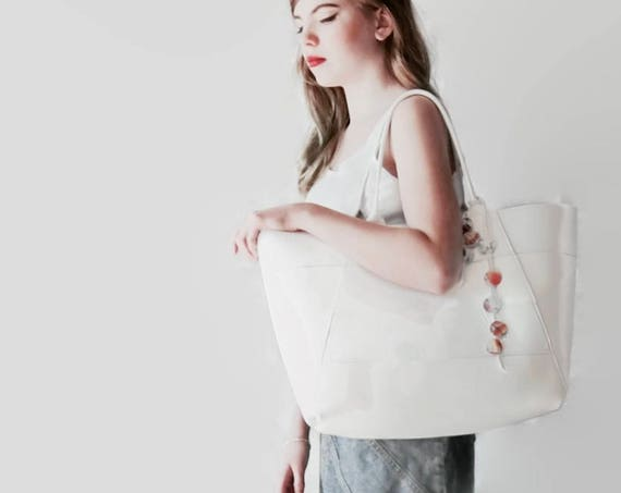 A-Line Tote Bag in White