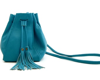 Mini Bucket Bag in Turquoise