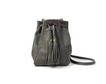 Mini Bucket Bag in Olive