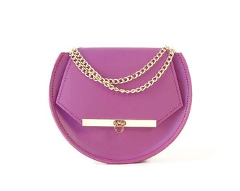 Loel mini military bee bag clutch in lavender / More colors