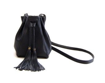 Mini Bucket Bag in Black