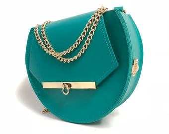 Loel mini military bee bag clutch in jade / More colors
