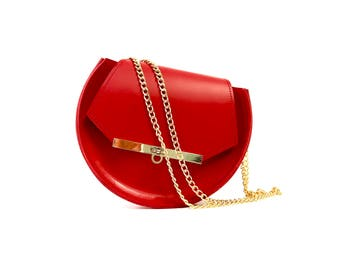 Loel mini military bee chain bag in classic red