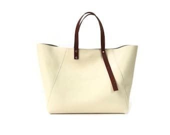 A-Line Tote in Ivory
