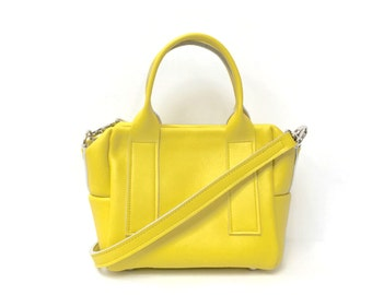 Box Bag in Citron Yellow