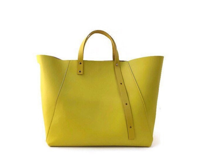 Featured listing image: A-Line tote in yellow