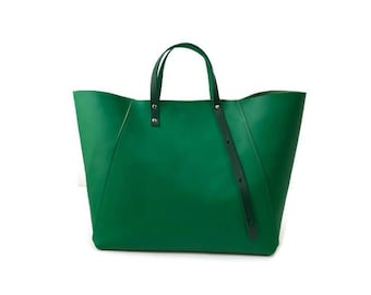 A-Line Tote Bag in Italian Green