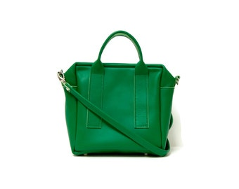 Box Bag in Italian Green // mini cross body bag