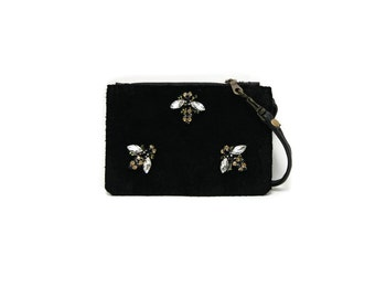 Jeweled bee wallet