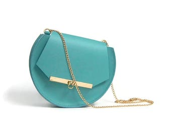 Loel Mini Crossbody Clutch in Pool Blue
