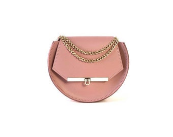 Loel Mini Military Bee Crossbody Bag in Blush Pink