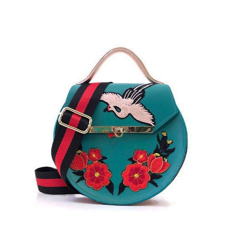 8f37528f00 Loel mini embroidered floral crane bag    structured crossbody