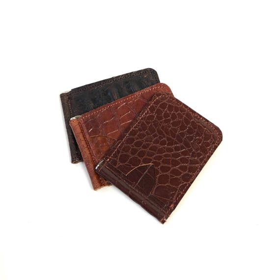 Slim & Simple money clip wallet in bourbon brown