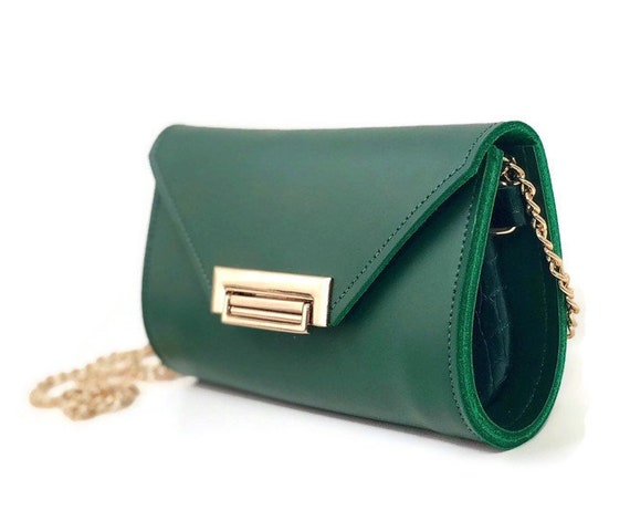 Romi Convertible Bag in Emerald Green