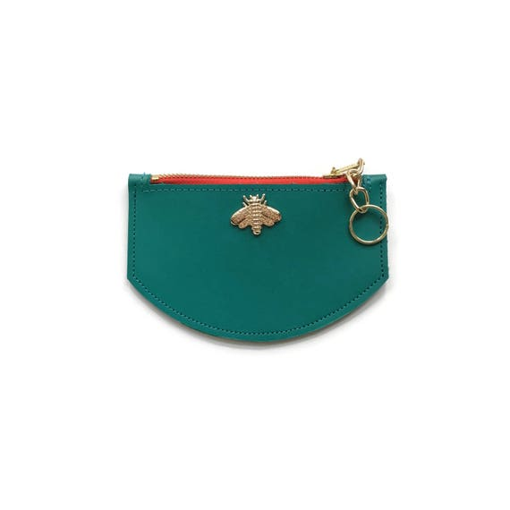 Bee Wallet in Teal