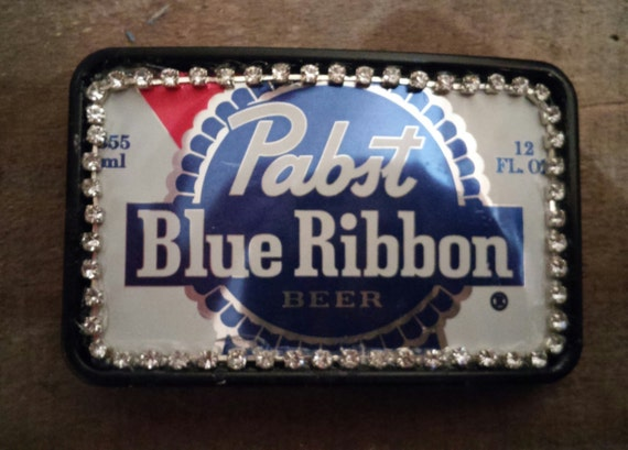 NEW PABST BLUE RIBBON BEER  PBR BELT BUCKLE