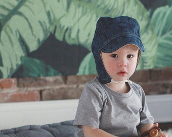 Floral Cap, Baby Toddler and Kids Sun Hat, Children's Sun Hat, Cap with Chin Straps