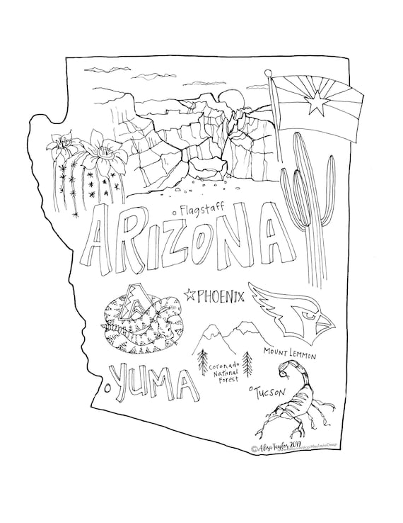 Desert Detailed Coloring Page -- Exploring Nature Educational ... | 738x570