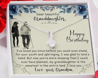 Granddaughter Birthday gift, Granddaughter Gift from Grandpa, Granddaughter Necklace, Gift for Granddaughter Necklace, Alluring Necklace