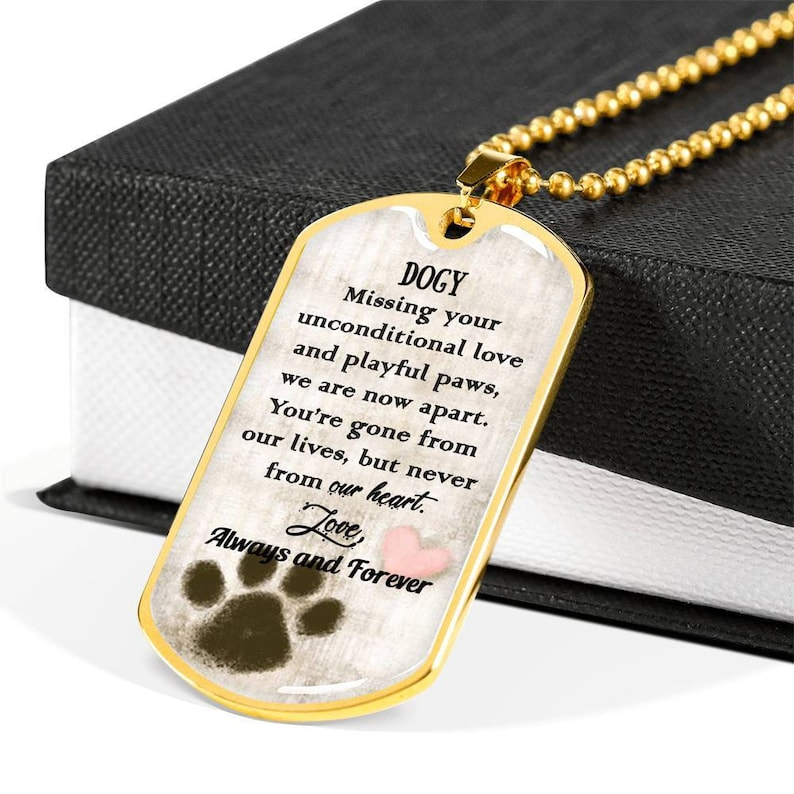 Pet Day Gift Pet Loss Gift for Women Animal Lovers Dog Tag Necklace Personalized Dog Tag Necklace Pet Memorial Gift