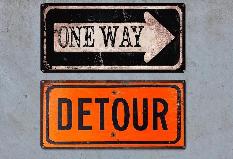 Way Panneaux One VintageRustique Détour Et Signe wPOn0k