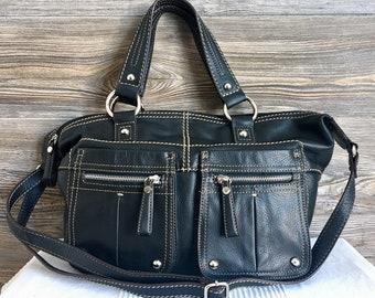 2f8737c17e Vintage TIGNANELLO Black Leather Hobo Shoulder Bag Purse