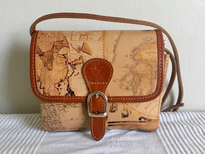 3f637bf4045f1 Borse in Pelle Italian Designer Genuine Leather Map Theme