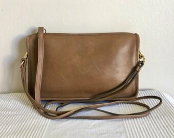 Vintage COACH Brown Leather Bonnie Cashin Clutch Wristlet Shoulder Bag Purse H311