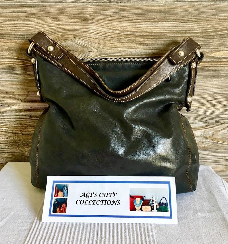 003e59dcfb6f Vintage TANO Distressed Leather Hobo Shoulder Bag Purse