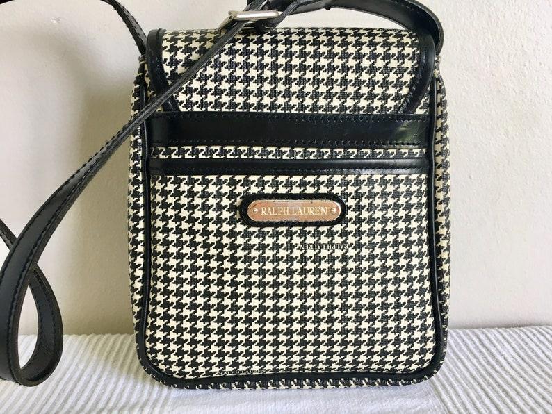 743c57f4c8bb Vintage Ralph Lauren Houndstooth Flap Shoulder Bag Purse