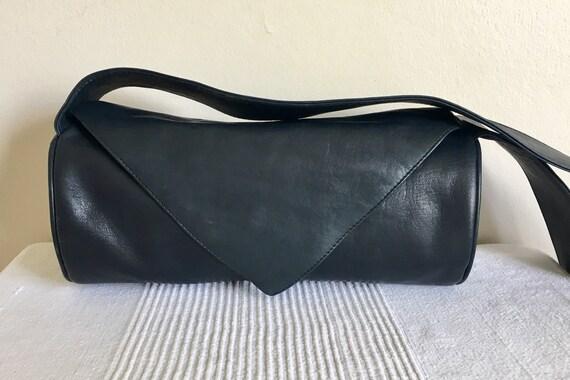 Vintage  70s Sabina Saddle Navy Blue Shoulder Bag Purse  80166be91067e