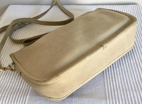 Vintage COACH Bonnie Cashin Ivory Leather Crossbo… - image 3