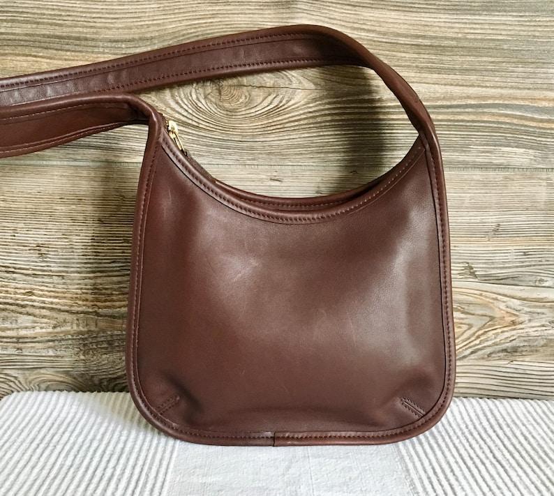 0cae5f6c9c Vintage COACH 9020 Ergo Hobo Shoulder Bag Brown Leather Purse