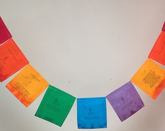 Meister Eckhart Prayer Flag. All proceeds to families in Mexico. Free domestic shipping. 3+ items 10% off.  We can enclose a gift note.