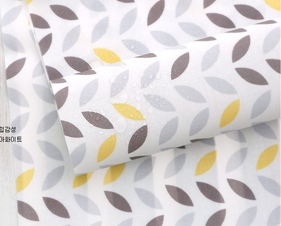 Laminated Cotton Fabric Leaf By The Yard Etsy