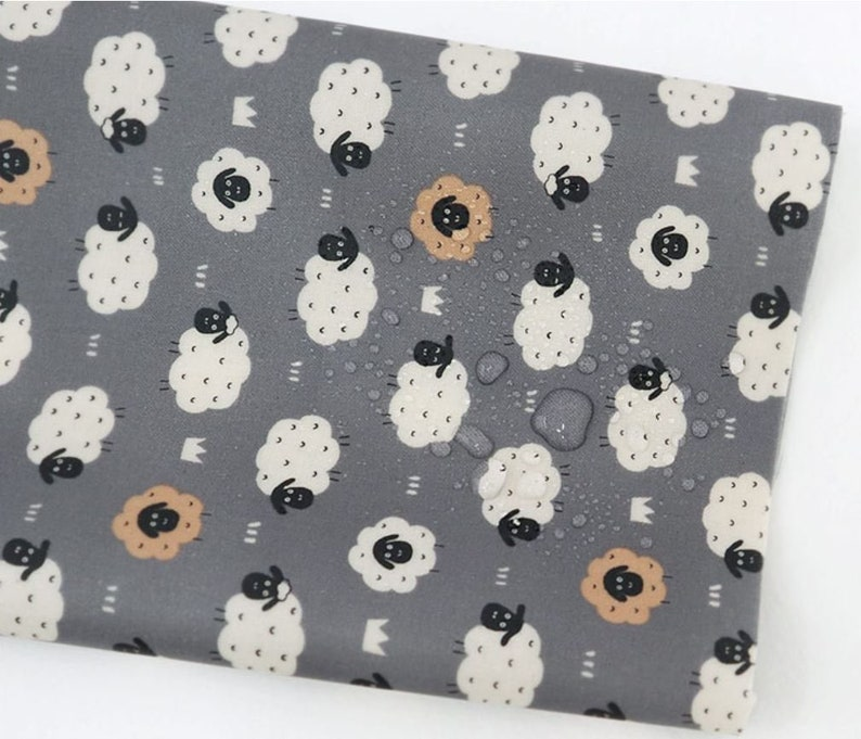 Laminated Cotton Fabric Sheep By The Yard