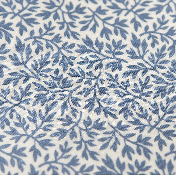 Laminated Cotton Fabric Blue By The Yard Etsy