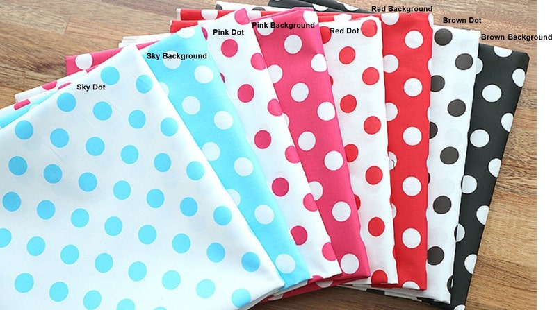 Laminated Cotton Fabric Polka Dot in 8 Colors By The Yard